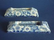 Rare Pair of 'Wild Rose Border' Knife Rests c1830